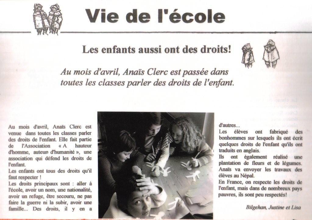 Le journal de l ecole p b school newspaper for Le journal de la